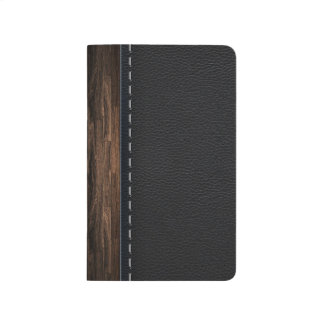 Realistic Wood and Stitched Leather Texture Journal