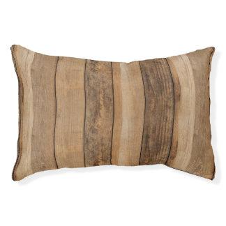 Realistic Wood Flooring Texture Pet Bed