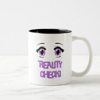 """Reality Check"" lucid dreaming coffee cup/mug. Two-Tone Coffee Mug"