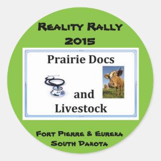 Reality Rally - Team Prairie Docs and Livestock Round Sticker