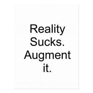 Reality sucks. Augment it Postcard