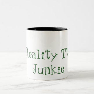 Reality TV Junkie Two-Tone Coffee Mug