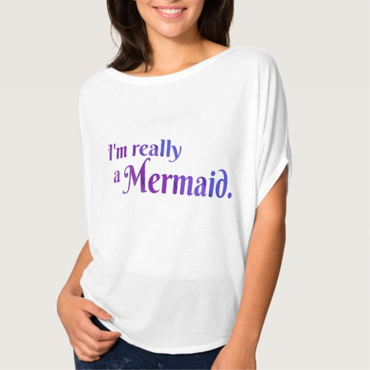 Really a Mermaid Shirt: Purple T-Shirt