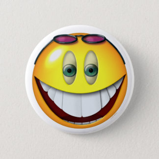 Really Big Smile Smilie Emoticon 2 Inch Round Button