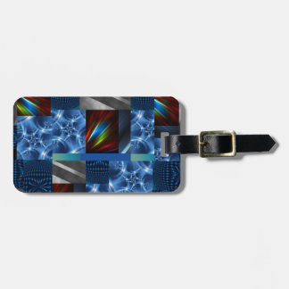 really cool blue luggage tag