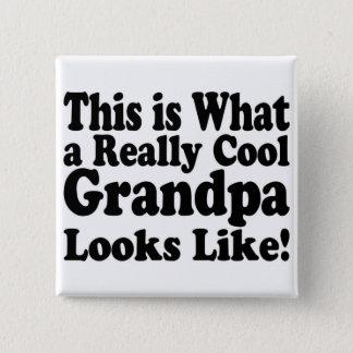 Really Cool Grandpa 2 Inch Square Button