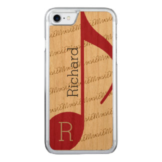 really-cool red musical-note carved iPhone 7 case