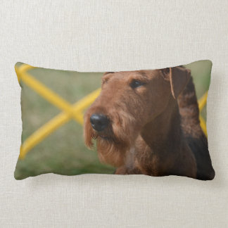 Really Cute Airedale Terrier Lumbar Pillow