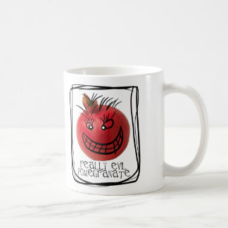 Really evil pomegranate coffee mug