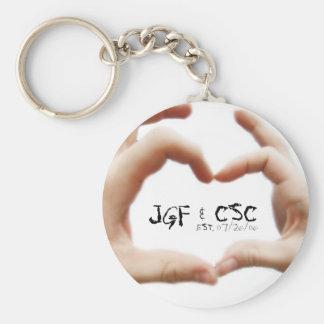 REally Nice Day (Mar) 011b, JGF & CSC , EST. 07... Keychain