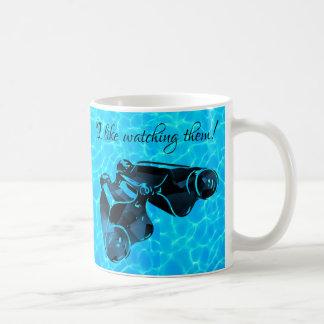 Realm of Blue Binoculars -See Through Water Coffee Mug