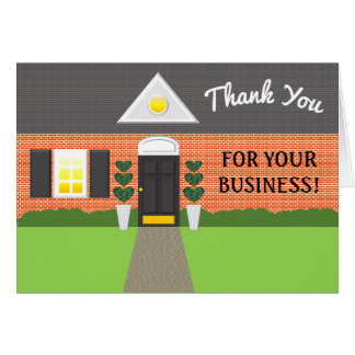 Realtor Brick House Thank You Card