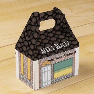 Realtor Open House Home Shape Treat Box