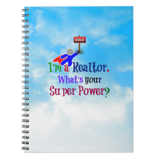 Realtor Superhero Spiral Notebook