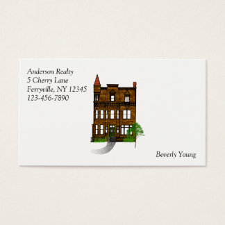 Realty Profession with Classic Victorian House Business Card