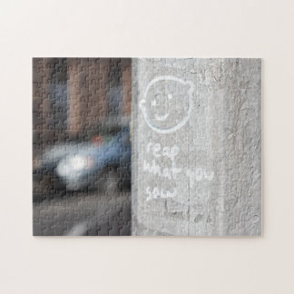 Reap What You Sow New York City Graffiti Photo NYC Jigsaw Puzzle