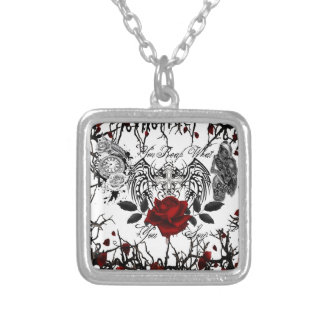 reap what you sow silver plated necklace