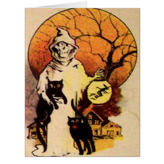 Reaper Black Cat (Vintage Halloween) Card