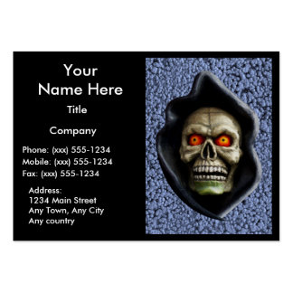 REAPER on STEEL BLUE (Halloween design) ~ Pack Of Chubby Business Cards