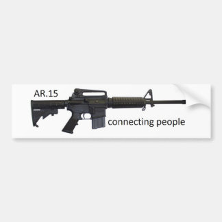 rear 15 connecting people bumper sticker