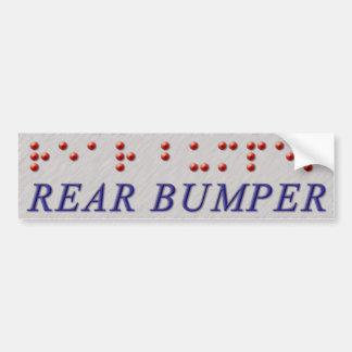 Rear Bumper Braille Bumper Sticker