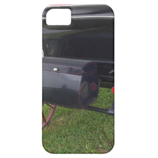 Rear view of old-fashioned horse carriage on green iPhone 5 case