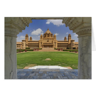 Rear view of Umaid Bhawan Palace hotel, Jodjpur, Card