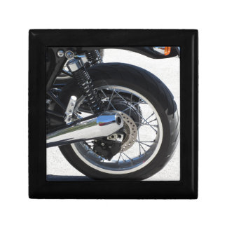 Rear wheel and chromed exhaust pipe of motorcycle gift box