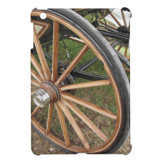 Rear wheels of old-fashioned horse carriage iPad mini covers