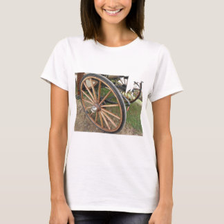 Rear wheels of old-fashioned horse carriage T-Shirt
