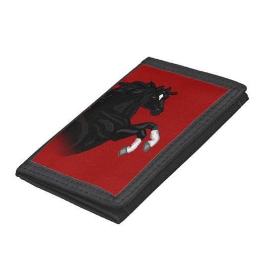 Rearing Black Horse Wallet