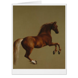Rearing Chestnut Horse Greeting Card