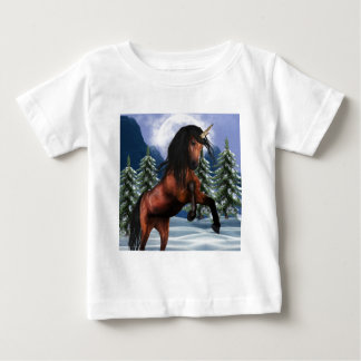 Rearing Chestnut Unicorn Baby T-Shirt