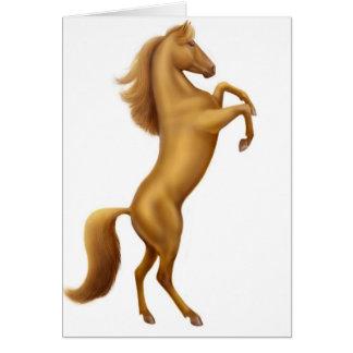 Rearing Golden Horse Greeting Card