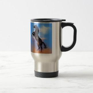 Rearing Horse 15 Oz Stainless Steel Travel Mug