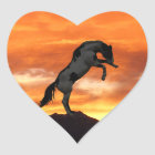 Rearing Horse Heart Stickers