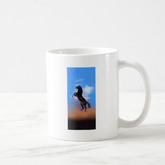 Rearing Horse Basic White Mug