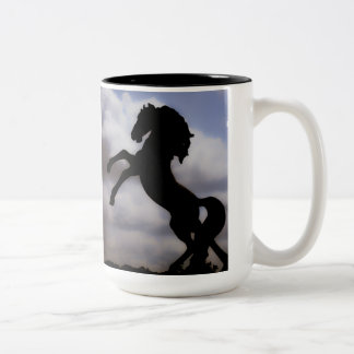 Rearing Horse Two-Tone Coffee Mug