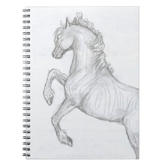 Rearing Tribal horse Spiral Notebook