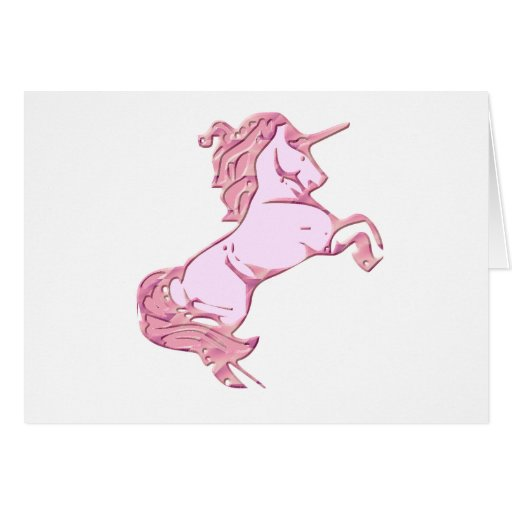 Rearing Unicorn Greeting Card
