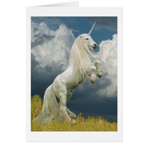 Rearing Unicorn Card