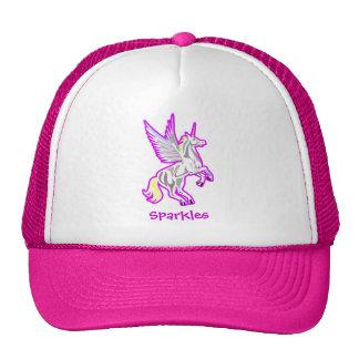 Rearing Unicorn Guardian Angel Trucker Hat