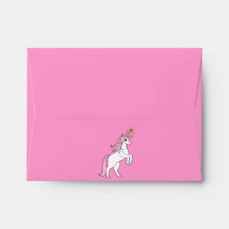 Rearing Unicorn Pink Mane and Tail Envelope