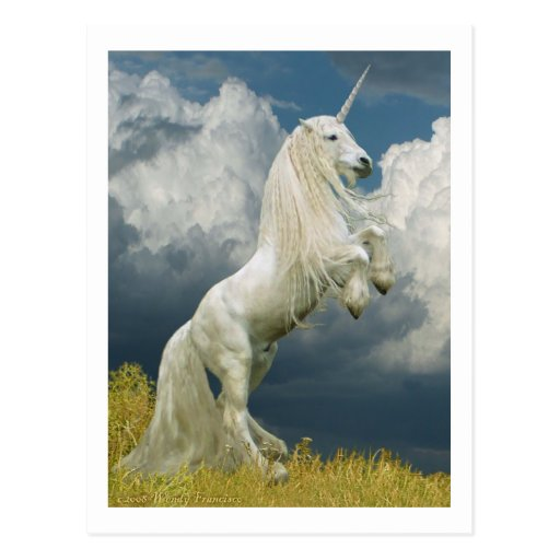 Rearing Unicorn Post Cards