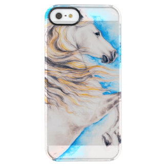 Rearing White Horse Clear iPhone SE/5/5s Case