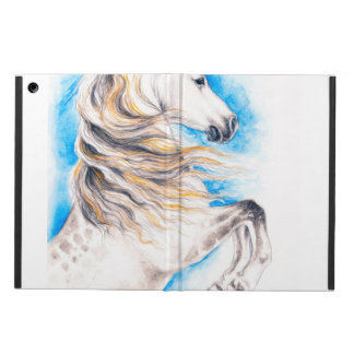 Rearing White Horse Cover For iPad Air