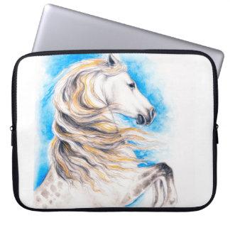 Rearing White Horse Laptop Sleeve
