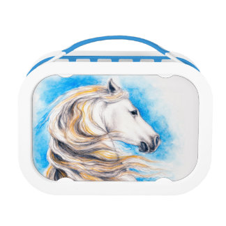 Rearing White Horse Lunch Box