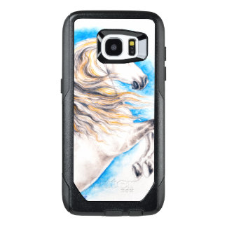 Rearing White Horse OtterBox Samsung Galaxy S7 Edge Case