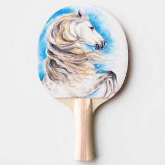 Rearing White Horse Ping Pong Paddle